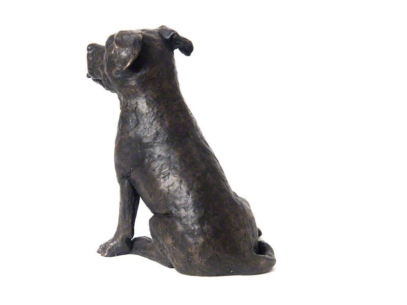 Beautiful figurine Staffordshire Bull Terrier dog urns for pet Staffie dog ashes. Can be personalised.