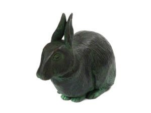 Rabbit Urn - Aged Bronze